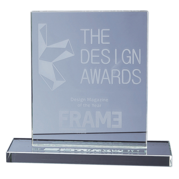15cm x 12.5cm x 12mm Jade Glass Rectangle Award