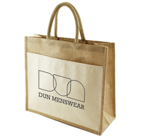 Funo Jute Bag with canvas pocket