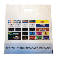 Digitally Printed Patch Handle Carrier Bag