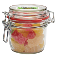 Glass jar of sweets (125ml)
