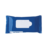 Sealed bag with tissues