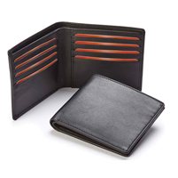 Sandringham Nappa Leather Billfold Wallet with RFID Protection