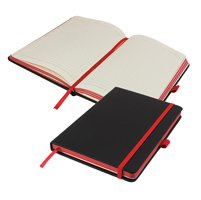 A5 DeNiro Edge Notebook Lined Notebook with pocket.
