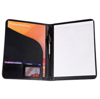 Black Balmoral Leather A4 Conference Folder